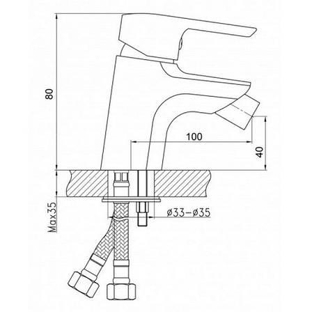 Смеситель для биде Q-tap Light CRM 001A (QTLIGCRM001A), фото 2