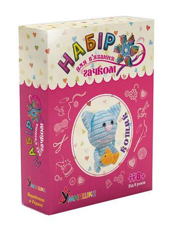 Набор для вязания Мягкая игрушка Котик Умняшка (ВК-005), фото 2