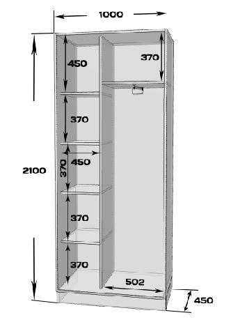 Шафа-купе MILERI 2-х дверний 100х210х45 Венге магія (1977894), фото 2