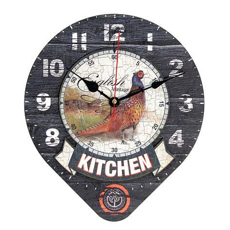 Настенные часы Декор Карпаты Drop Серый (UGT015), фото 2
