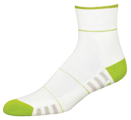 Термоноски InMove Fitness Deodorant 39-41 Белые с зеленым, фото 2
