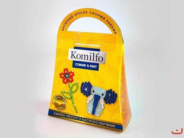 Набор для творчества Dankotoys Komilfo Бисерный брелок Слоник (КБ-01-02)