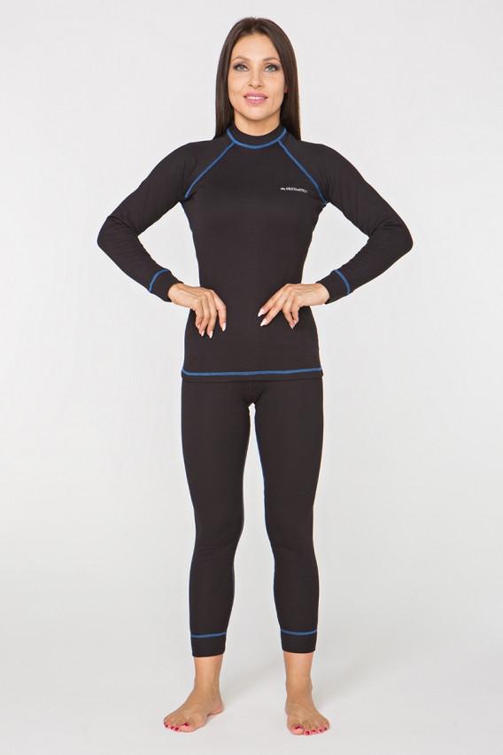 Термобілизна повсякденне жіноче Radical Rock XL Чорне з синім (r0435)