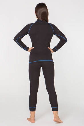 Термобілизна повсякденне жіноче Radical Rock XL Чорне з синім (r0435), фото 2