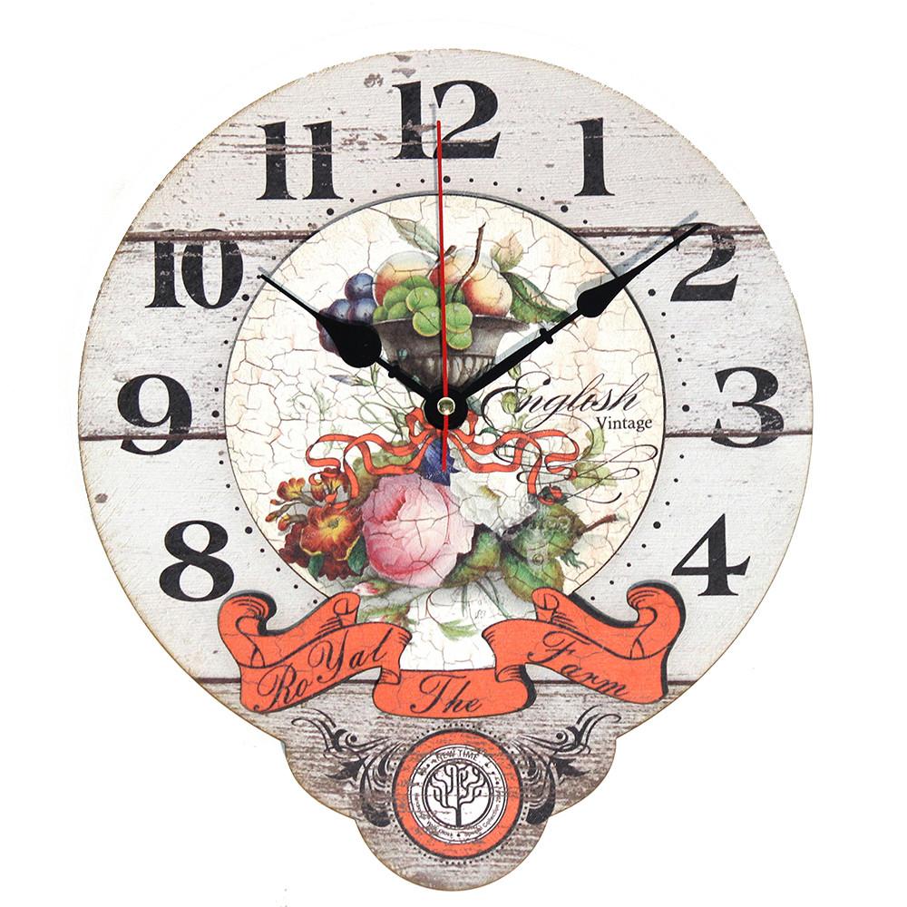 Настінні годинники Декор Карпати Drop Білий (UGT016)