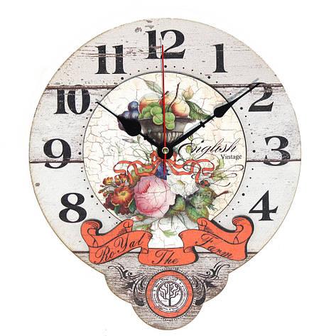 Настінні годинники Декор Карпати Drop Білий (UGT016), фото 2