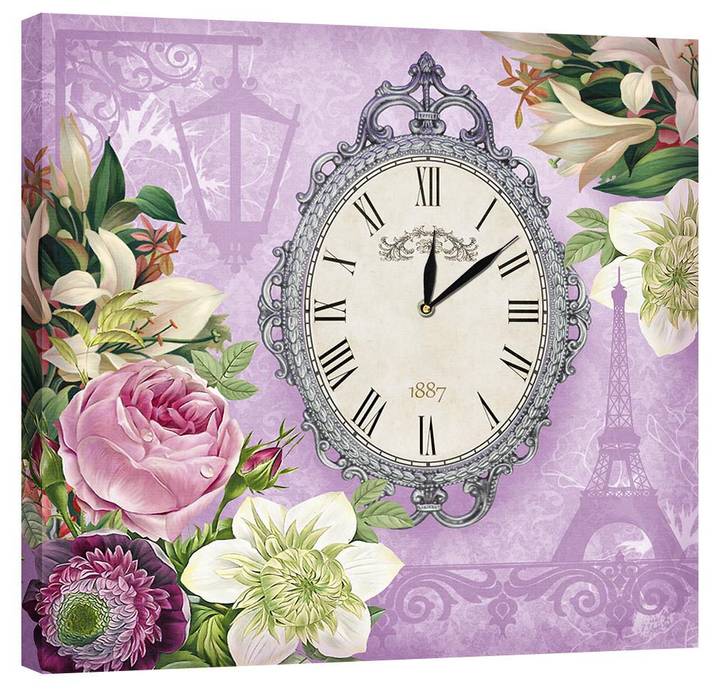 Настінні годинники Декор Карпати 53х53 Фіолетовий (53х53-D6)