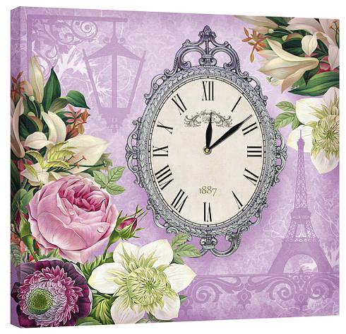 Настінні годинники Декор Карпати 53х53 Фіолетовий (53х53-D6), фото 2