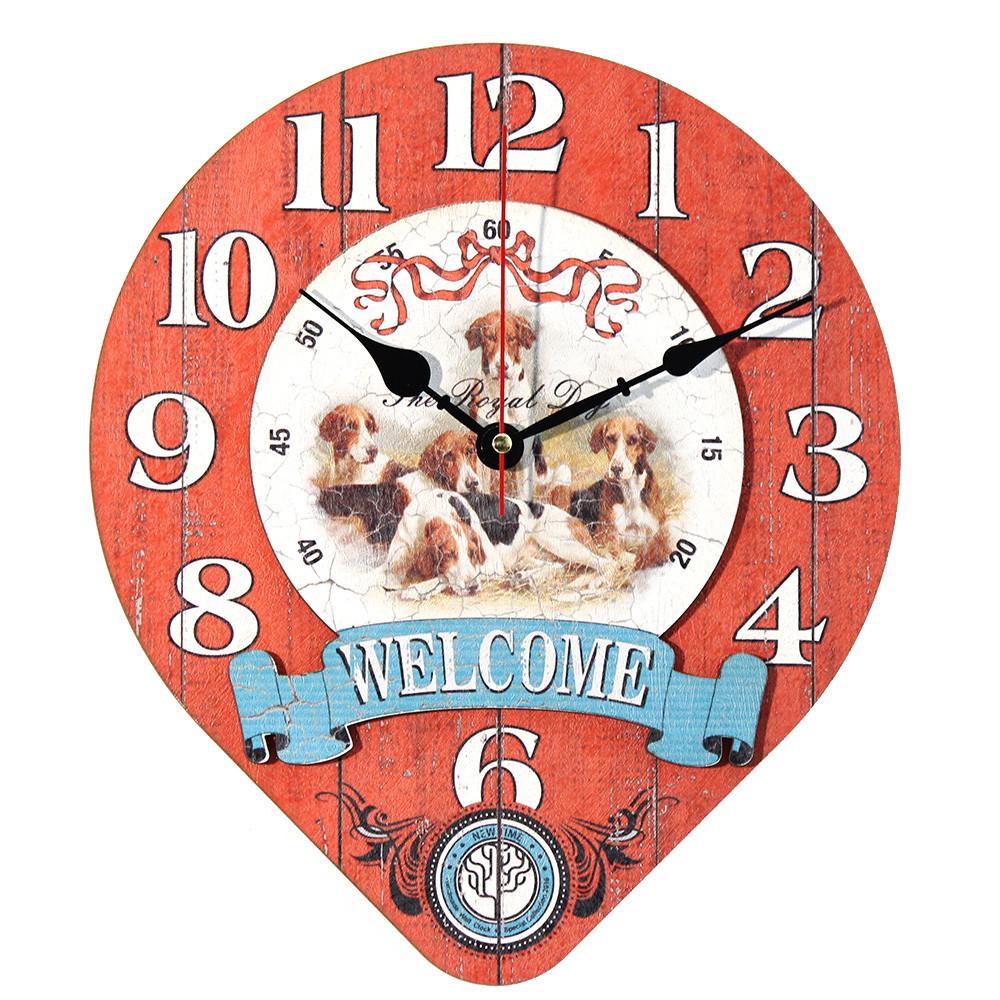 Настенные часы Декор Карпаты Drop Красный (UGT018)