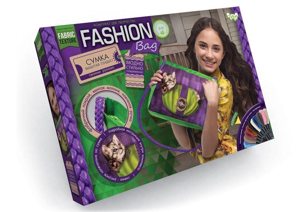 Вышивка гладью Fashion Bag Котёнок Dankotoys (FBG-01-05)