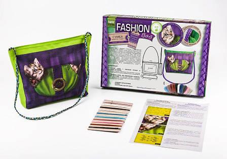 Вышивка гладью Fashion Bag Котёнок Dankotoys (FBG-01-05), фото 2