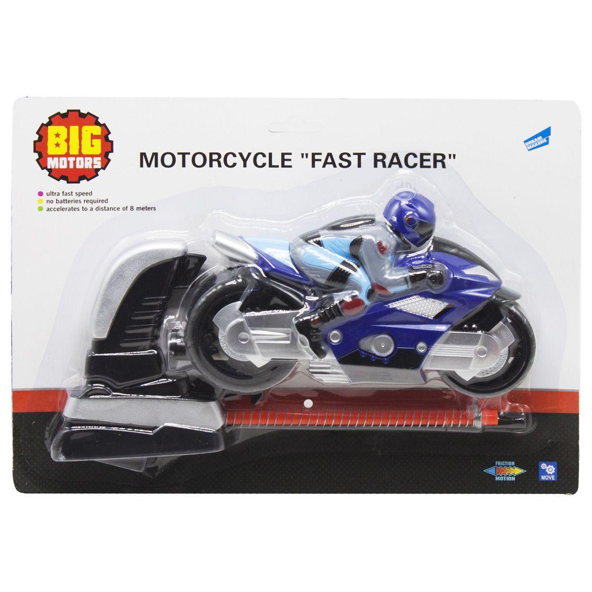 Мотоцикл Гонщик синій SHANTOU (6009A)