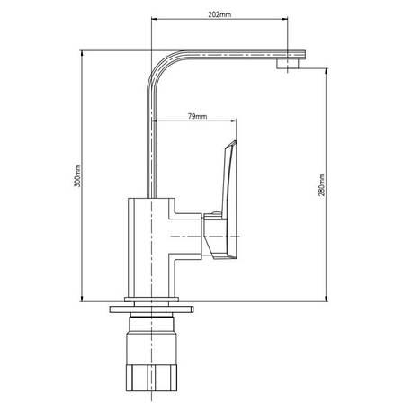 Змішувач для кухні GF Italy S - 09-007F (GFCRMS09007F), фото 2