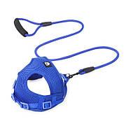 Шлея для собак с поводком Taotaopets 233303 S Blue (5305-18207)