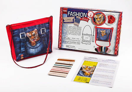 Вышивка гладью Fashion Bag Тигрёнок Dankotoys (FBG-01-03), фото 2