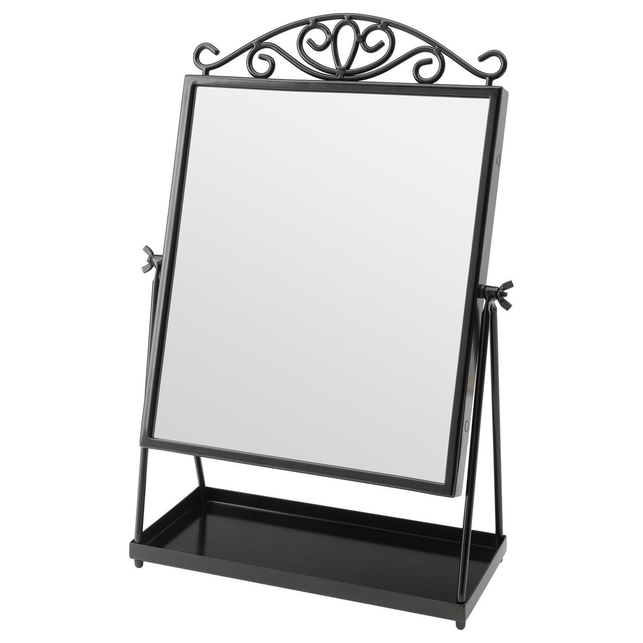 Зеркало настольное IKEA KARMSUND черный (002.949.79)