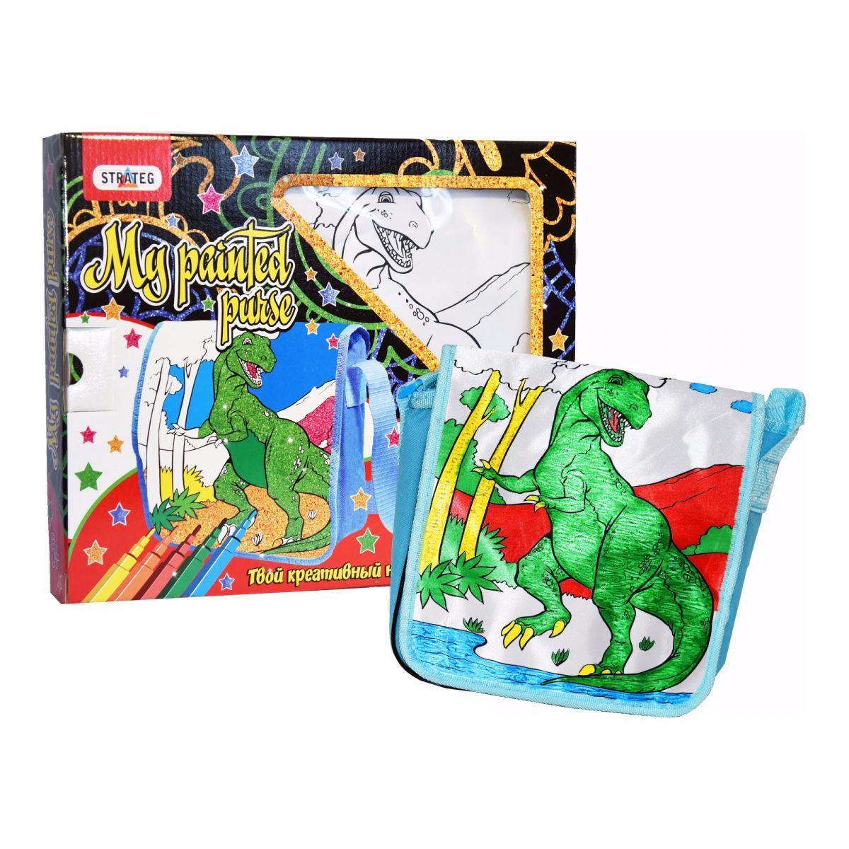 Набор для творчества Сумка-раскраска Динозавр Strateg (2039)