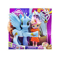 Набор Dream Horse лошадка и кукла-пони голубой MiC (LFJ850)