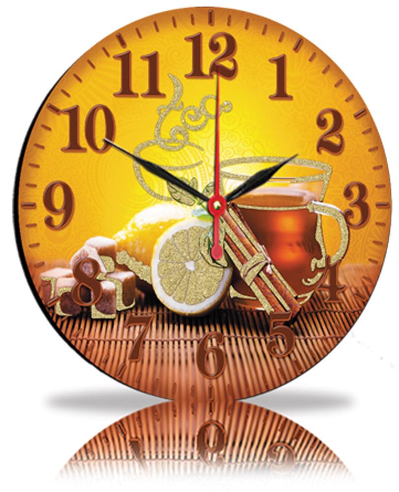 Настенные часы Декор Карпаты Чай с лимоном (25-81)