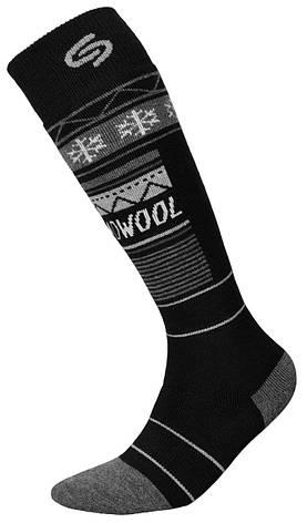 Термоноски InMove Ski Deodorant Thermowool 44-46 Черные с серым, фото 2