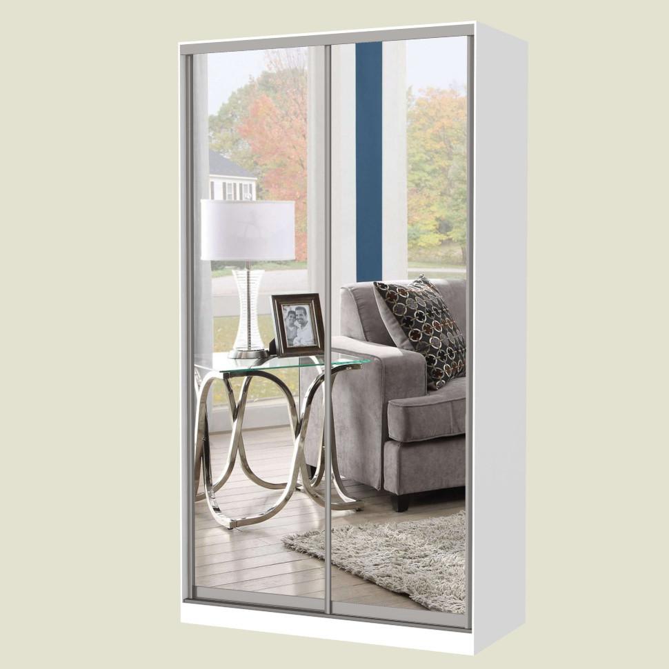 Шкаф-купе MILERI 2-х дверный 110х210х45 (2 зеркала) Белый (3795274)
