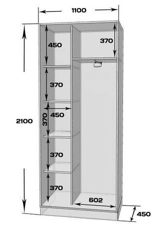Шкаф-купе MILERI 2-х дверный 110х210х45 (2 зеркала) Белый (3795274), фото 2