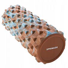 Масажний ролик (валик, роллер) Springos Mix Color 33 x 14 см FR0011, фото 2