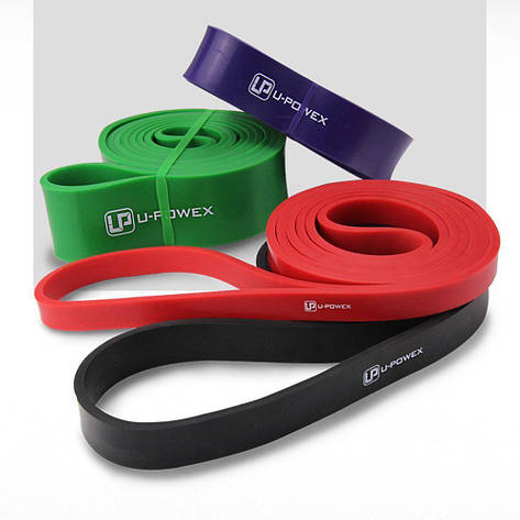 Резиновые петли для фитнеса UPowex Power Bands 4 шт 7-56 кг Разноцветные (I1003), фото 2