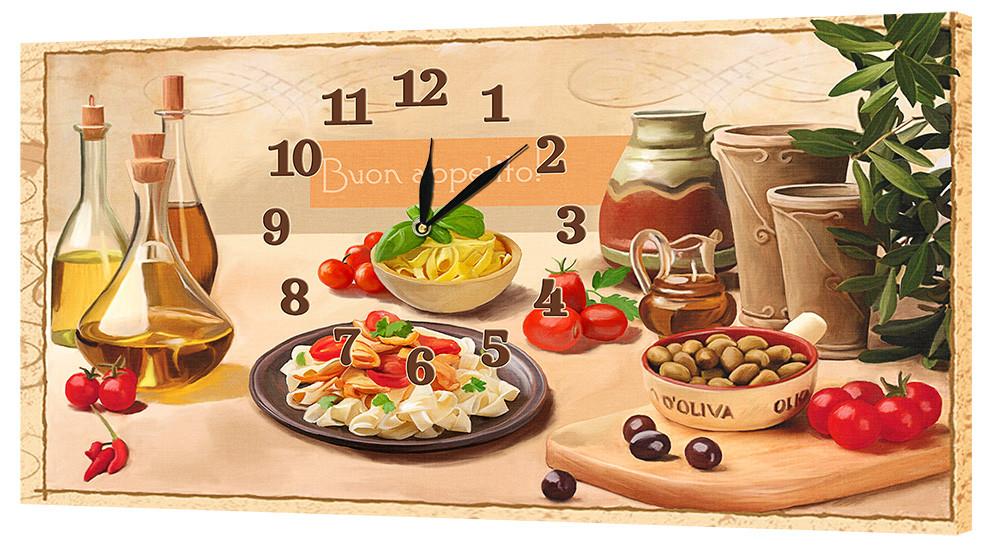 Настінні годинники Декор Карпати 24х44 Бон апетит (24х44-ch33)