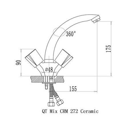 Змішувач для кухні Q-tap Mix CRM 272 (QTMIXCRM272), фото 2