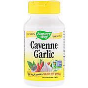 Кайенский Перец и Чеснок, Cayenne Garlic, Nature's Way, 100 капсул