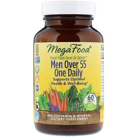 Мультивитамины для мужчин 55+, Men Over 55 One Daily, MegaFood, 60 таблеток, фото 2