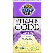 Сырой Цинк, RAW Zinc, Garden of Life, 60 веганских капсул