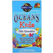 Комплекс Для Детей С ДГК, Oceans Kids, Garden of Life, От 3 Лет и Старше, Вкус Ягодный Лайм, 120 мг, 120