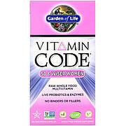 Женские Мультивитамины 50+, Vitamin Code, Garden of Life, 120 вегетарианских капсул