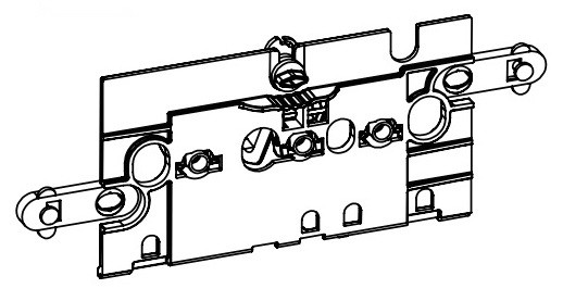 ROCA пластина пластикова прозора типу B, закриває доступ до арматури, для інсталяції Duplo