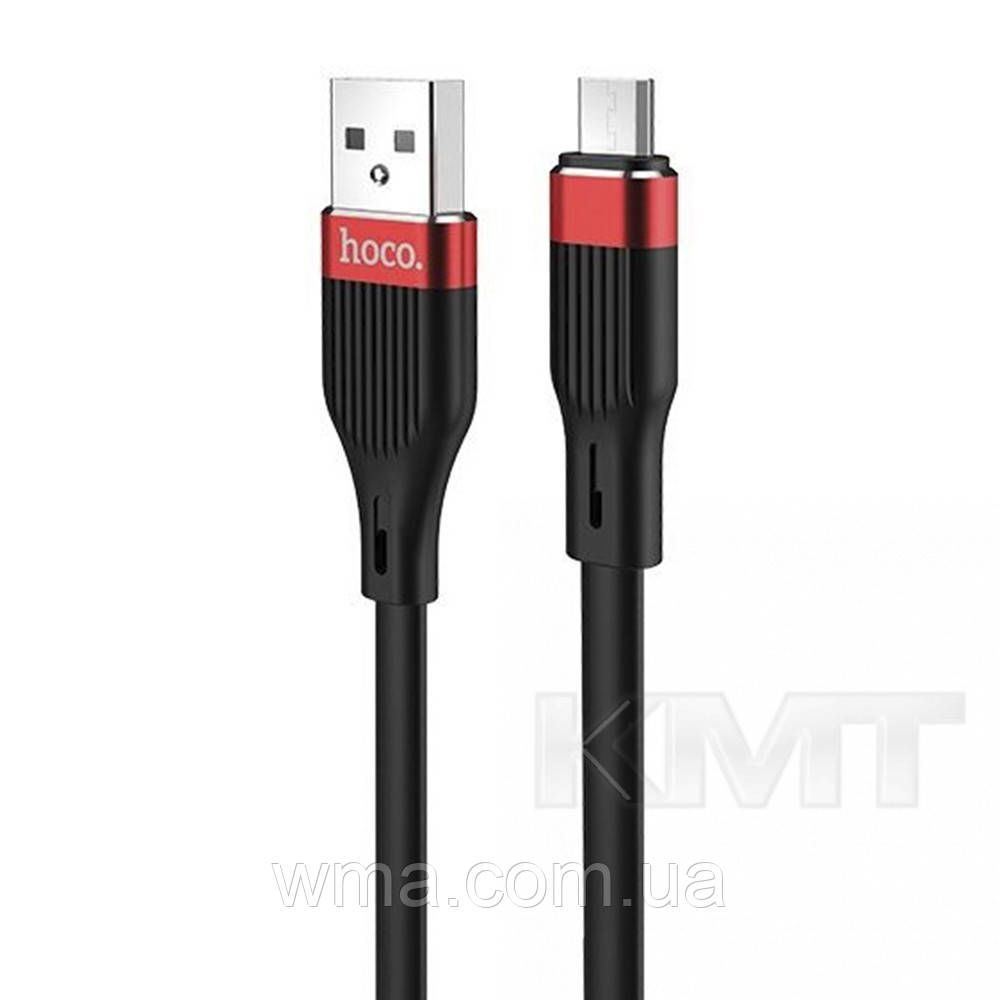 Hoco U72 Forest Silicone charging cable for Micro — Black