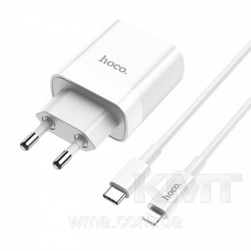 Hoco C80A Rapido PD+QC3.0 charger set(Type-C to Lightning)(EU) — White