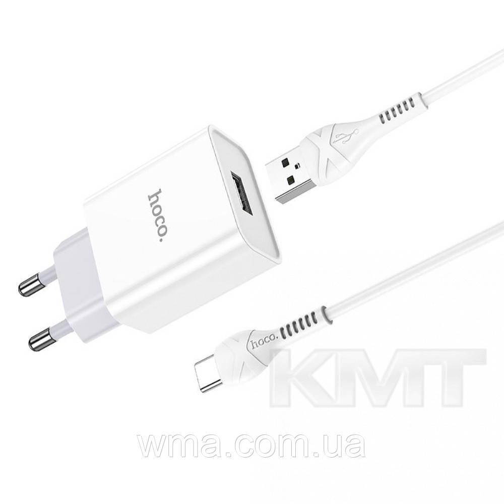 Hoco C81A Asombroso single port charger set(Type-C)(EU) — White