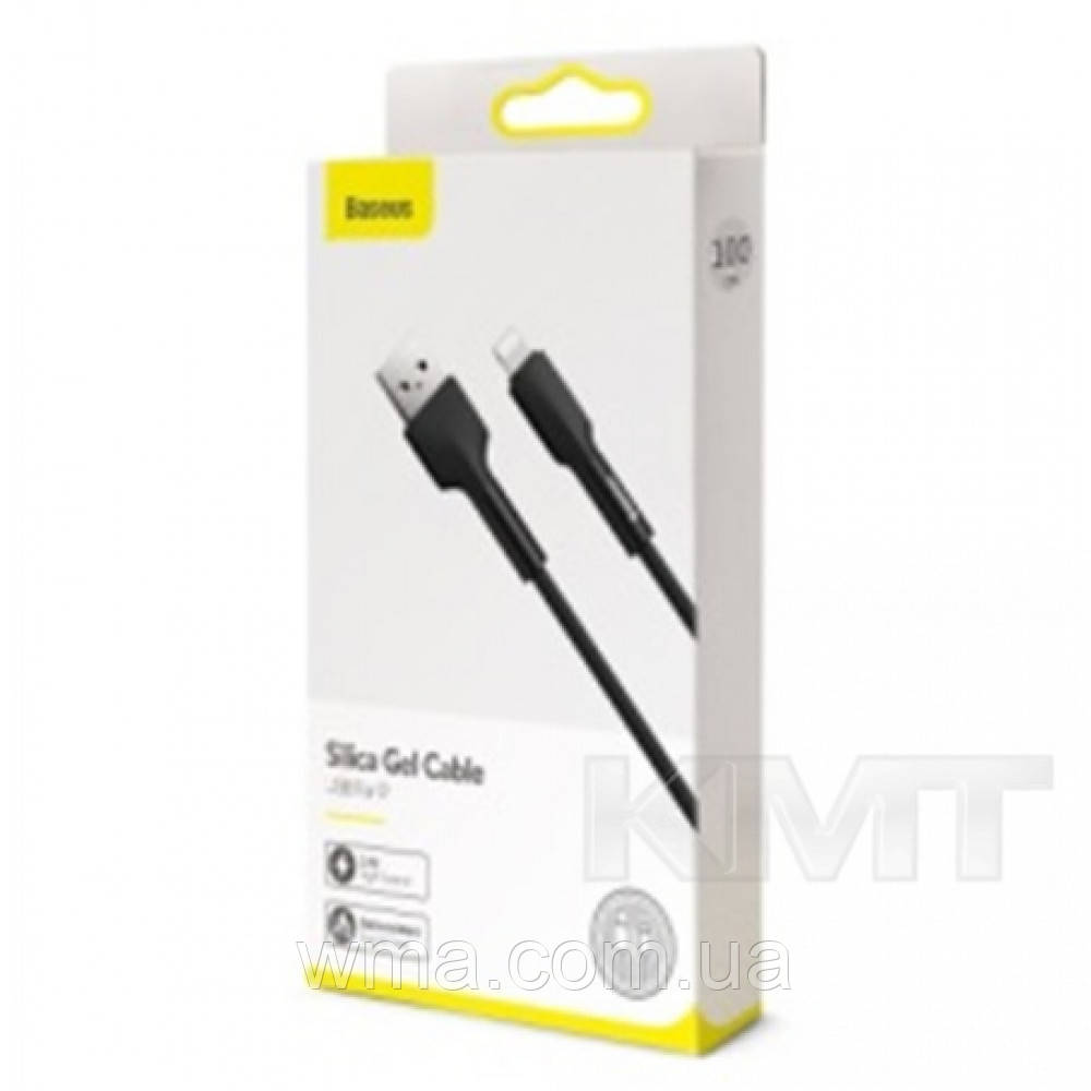 Baseus (CALGJ-01) Silica gel cable USB For IP 1m Black