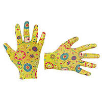 """Перчатки садовые с нитриловым покрытием 8"""" желтые INTERTOOL SP-0165, фото 1"""