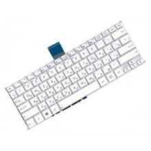 Клавіатура для ноутбука Asus F200, F200CA, F200LA, F200MA, R202, X200 шлейф по середині без кадру біла RU нова