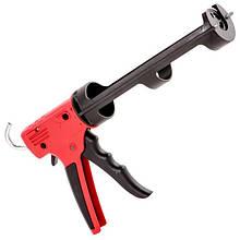 Пістолет для видавлювання силікону, посилений пластик, 2 режими INTERTOOL HT-0028
