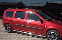 """Рейлинги на крышу Renault Logan MCV 2006-2014 """"Черний"""""""
