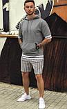 Чоловічий худі з коротким рукавом сірий/ Туреччина, фото 5