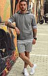 Чоловічий худі з коротким рукавом сірий/ Туреччина, фото 6