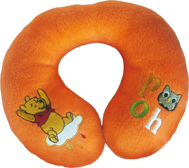 Дитяча подушка-валик WINNI THE POOH під шию в індивідуальній сумочці (помаранчевий) ТМ Eurasia-Disney 25199