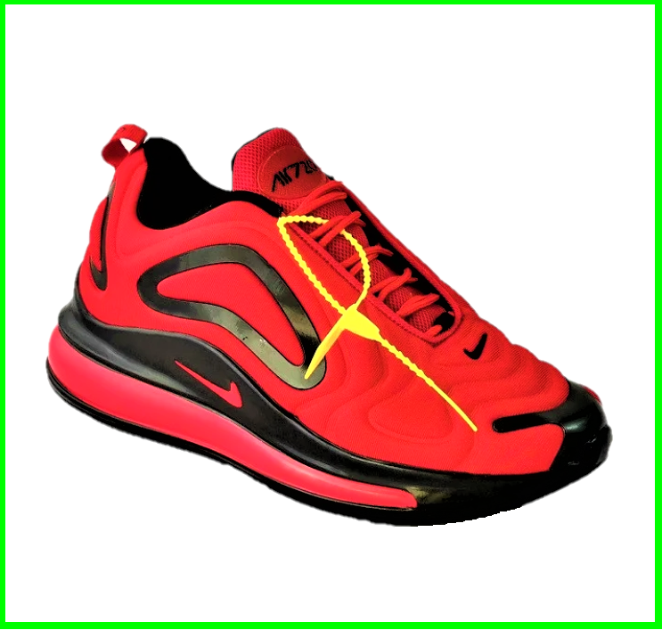 Кросівки N!ke Air Max 720 Червоні з Чорним Чоловічі Найк (розміри: 42,43,44,45) Відео Огляд