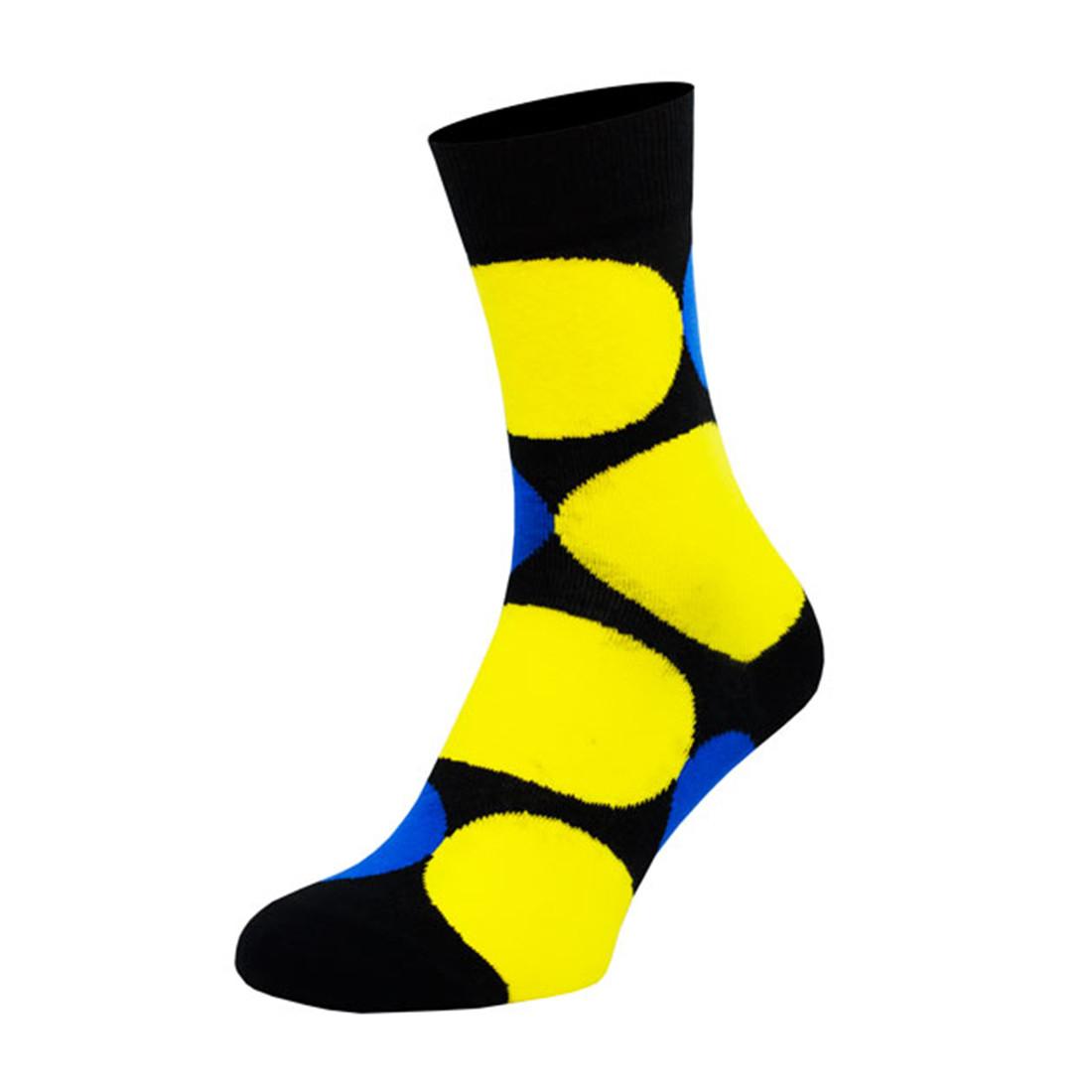 Носки мужские цветные из хлопка, жёлтые шары