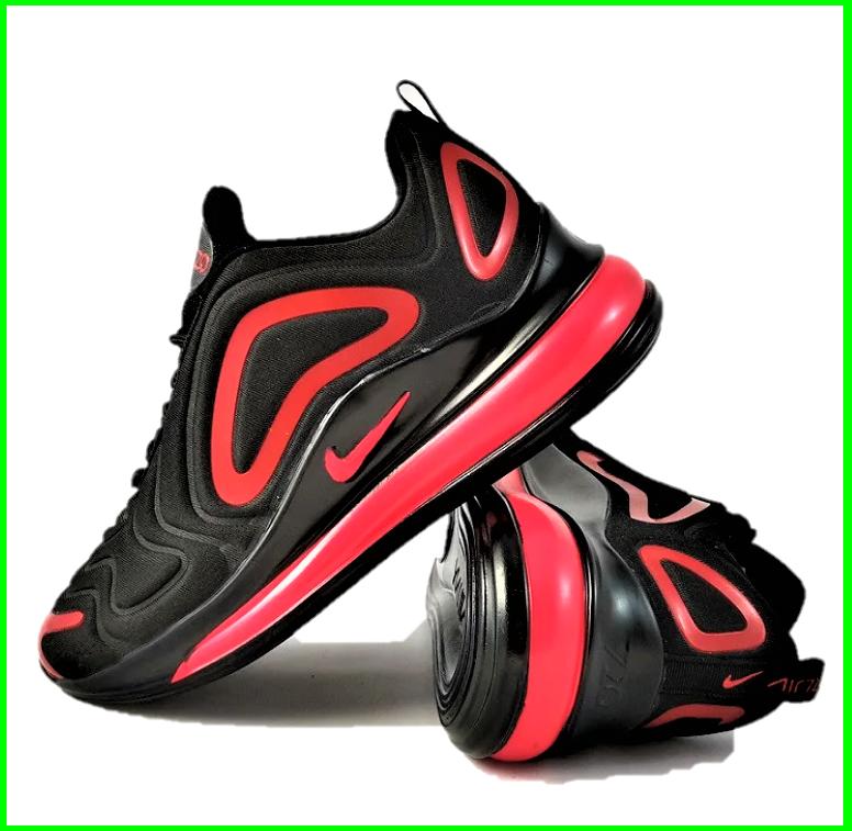 Кросівки N!ke Air Max 720 Чорні з Червоним Чоловічі Найк (розміри: 40,41,42,44,45) Відео Огляд